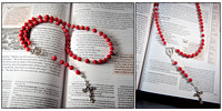 Bamboo Coral First Communion Flexwire Rosary
